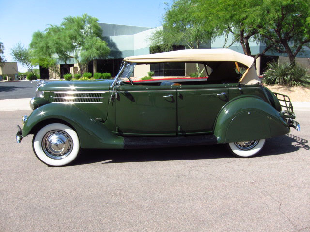 1936 FORD PHAETON CONVERTIBLE - Side Profile - 130911