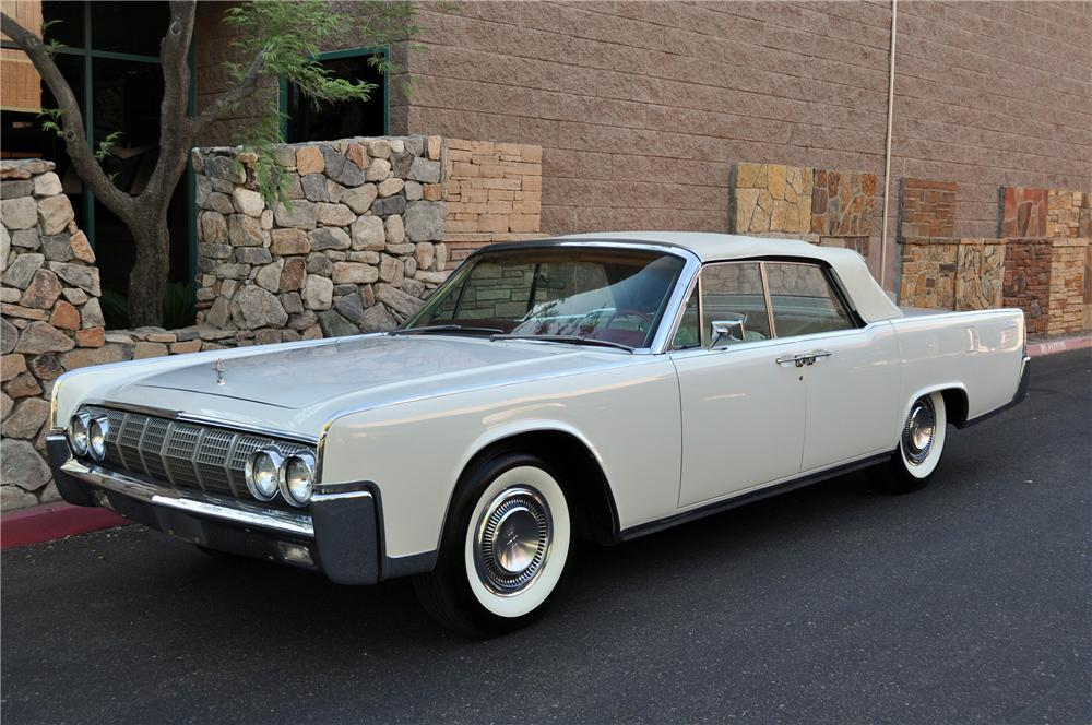 1964 LINCOLN CONTINENTAL CONVERTIBLE - Front 3/4 - 130916