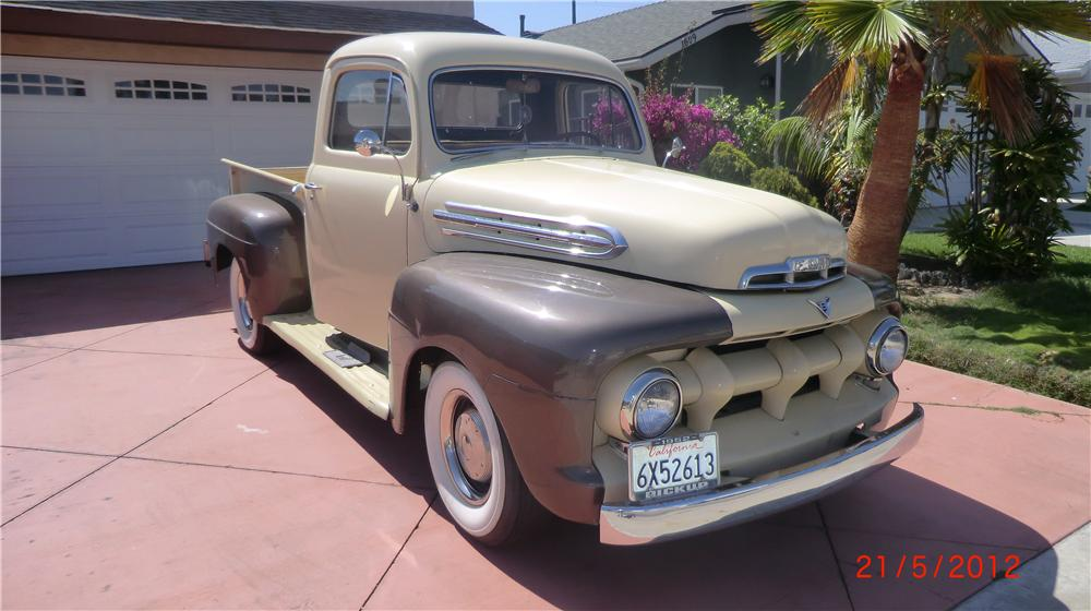 1951 FORD F-1 PICKUP - Front 3/4 - 130936