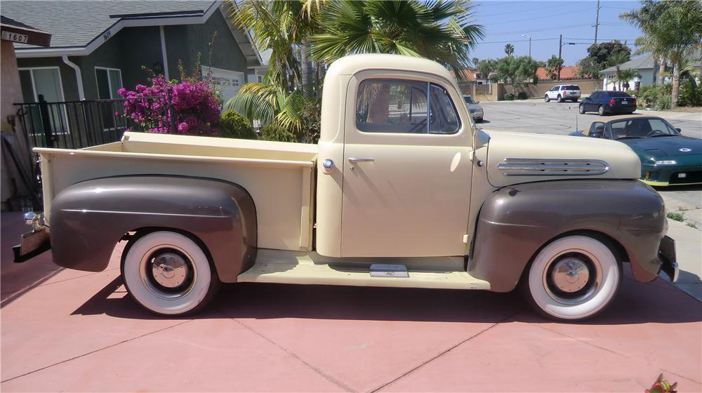 1951 FORD F-1 PICKUP - Side Profile - 130936