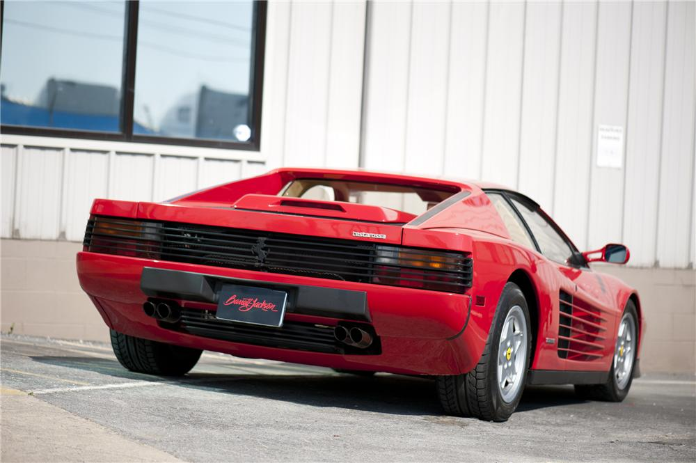 1988 FERRARI TESTAROSSA 2 DOOR COUPE - Rear 3/4 - 130937