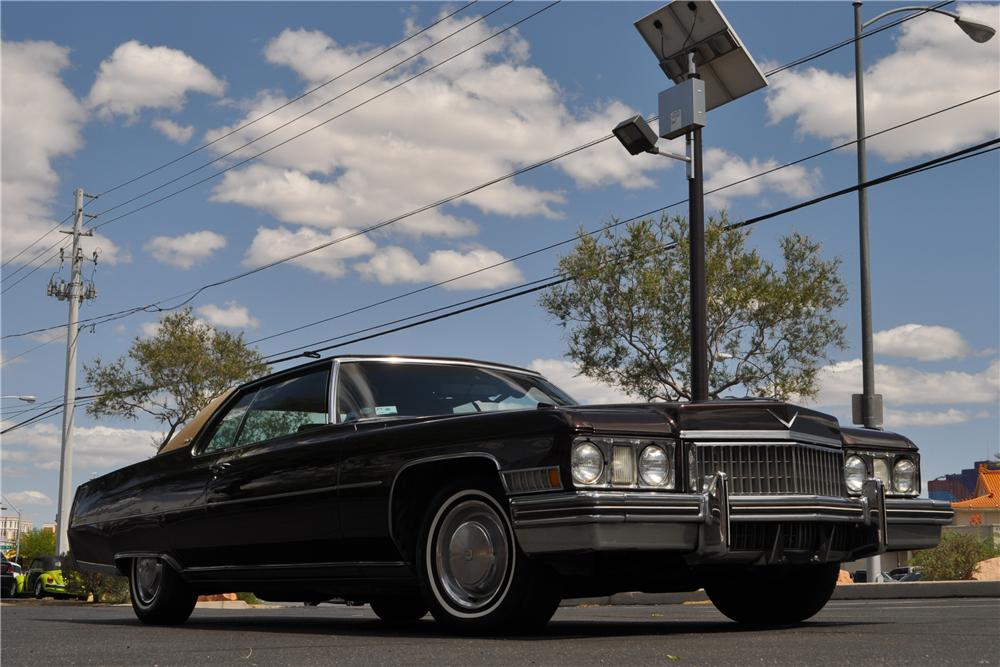 1973 CADILLAC COUPE DE VILLE 2 DOOR COUPE - Front 3/4 - 130952