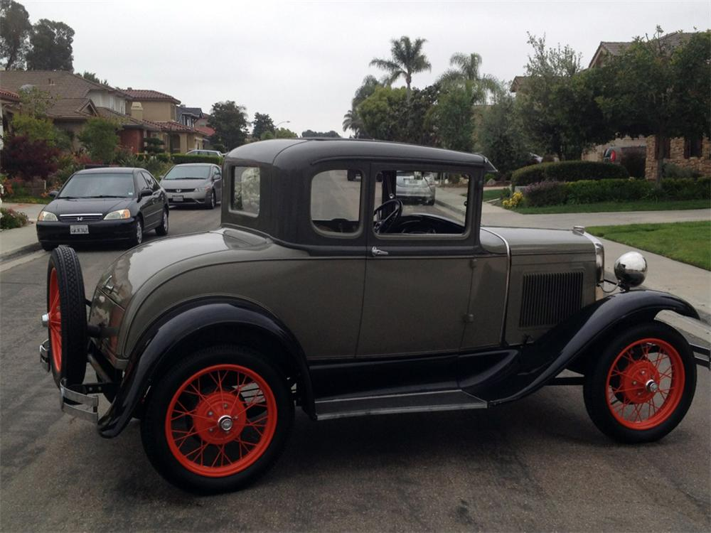 1931 FORD MODEL A 2 DOOR COUPE - Side Profile - 130959