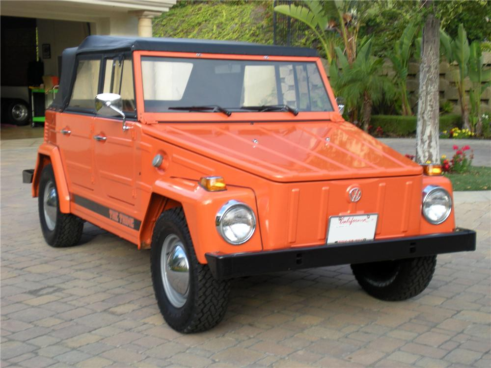 1973 VOLKSWAGEN THING CONVERTIBLE - Front 3/4 - 130965