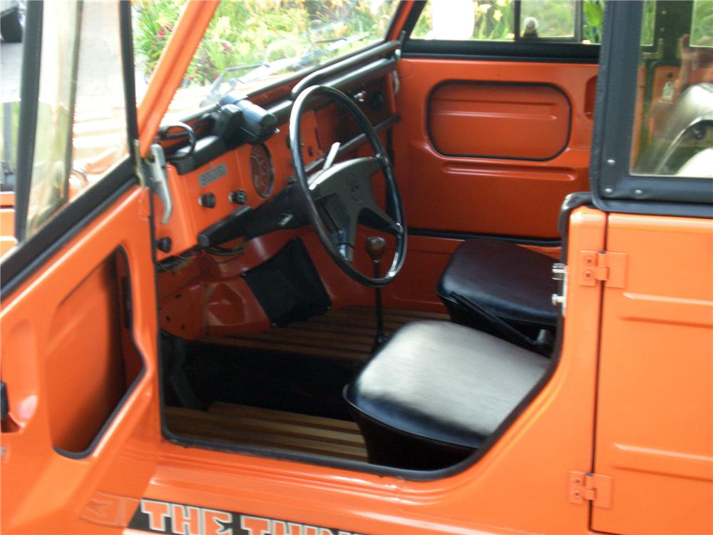 1973 VOLKSWAGEN THING CONVERTIBLE - Interior - 130965