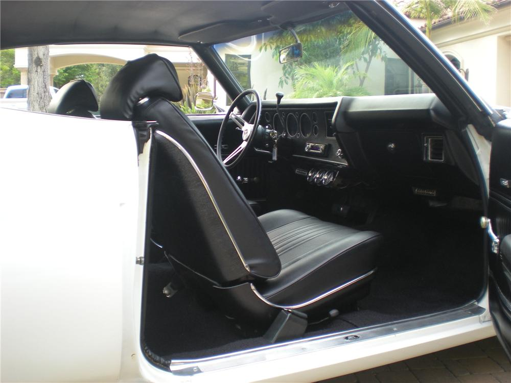 1970 CHEVROLET CHEVELLE 2 DOOR COUPE - Interior - 130967