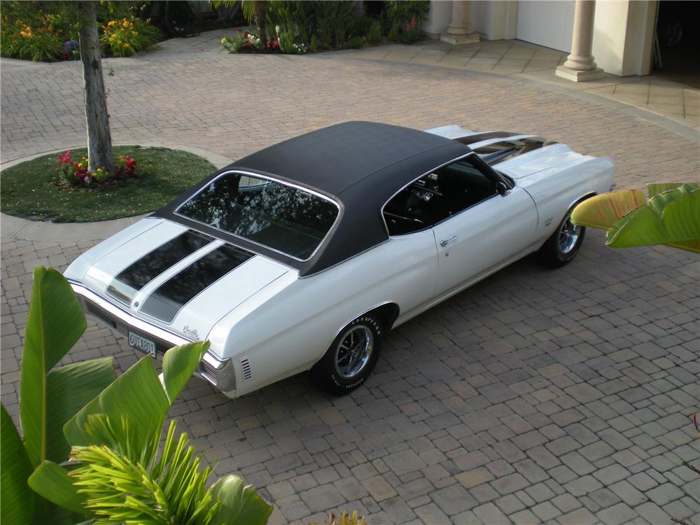 1970 CHEVROLET CHEVELLE 2 DOOR COUPE - Rear 3/4 - 130967