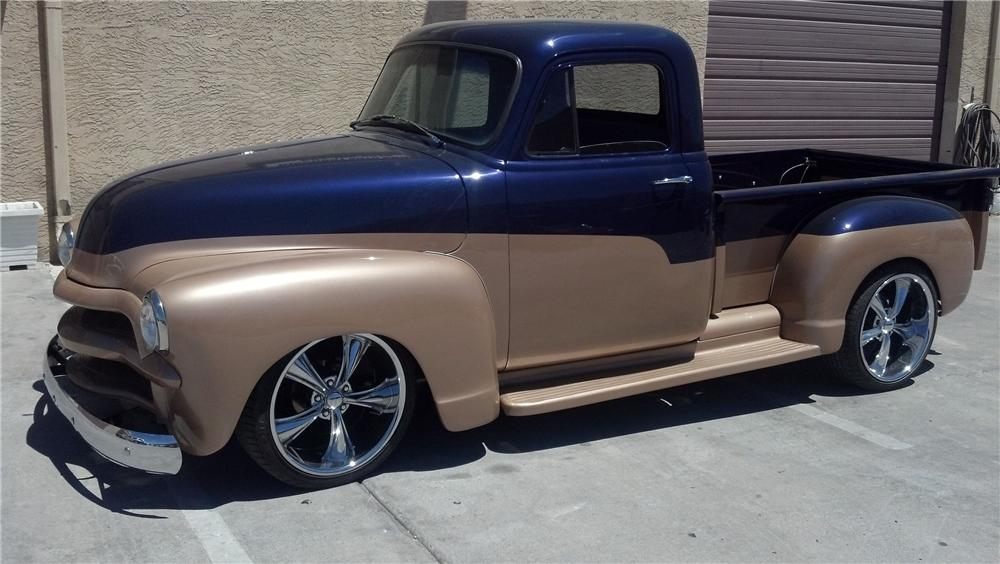 1954 CHEVROLET 3100 CUSTOM PICKUP - Front 3/4 - 130971