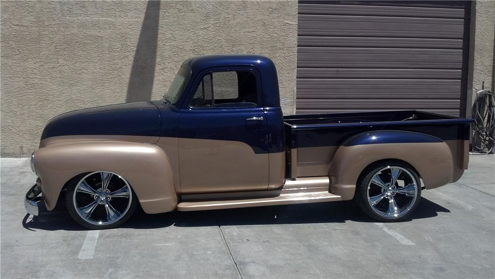 1954 CHEVROLET 3100 CUSTOM PICKUP - Side Profile - 130971