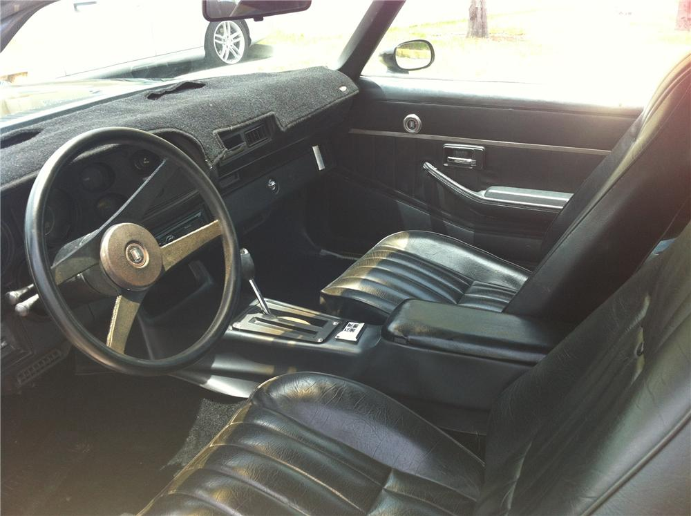 1978 CHEVROLET CAMARO RS 2 DOOR COUPE - Interior - 130977