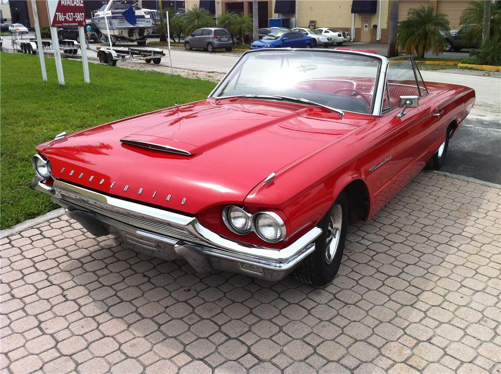 1964 FORD THUNDERBIRD CONVERTIBLE - Front 3/4 - 130979
