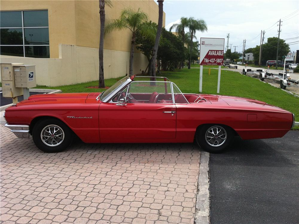 1964 FORD THUNDERBIRD CONVERTIBLE - Side Profile - 130979