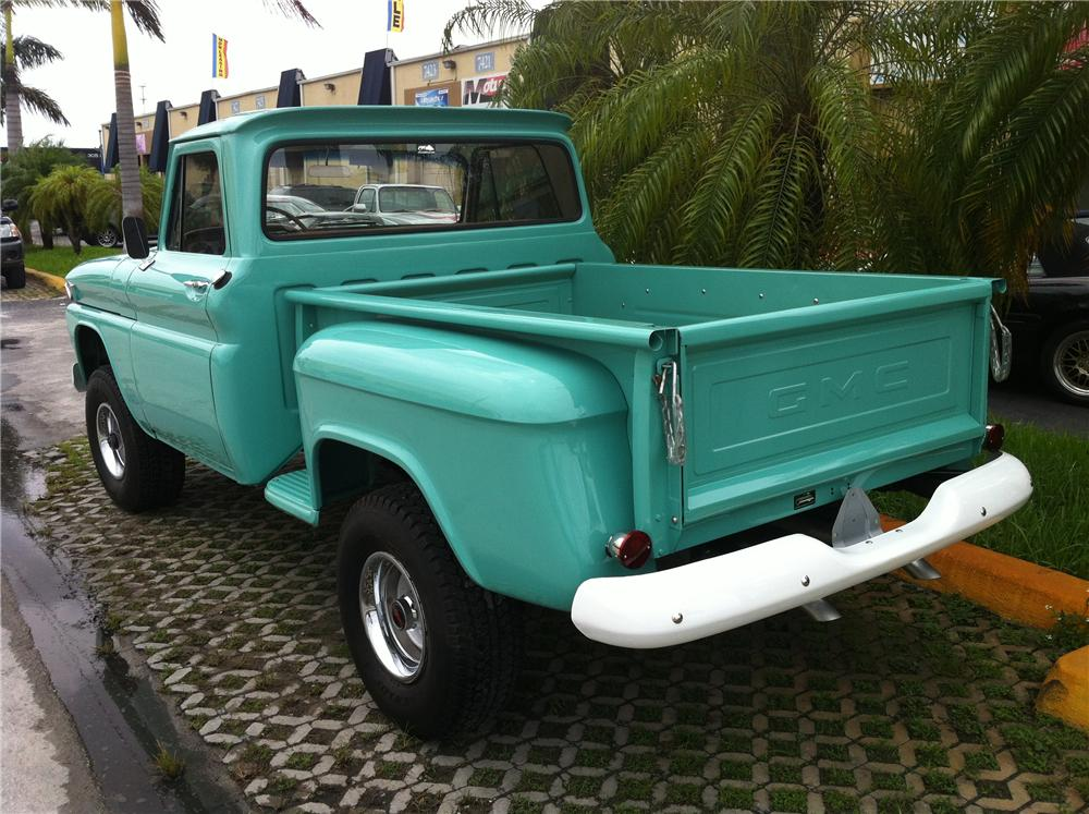 1966 GMC 1/2 TON 4X4 STEPSIDE PICKUP - Rear 3/4 - 130980