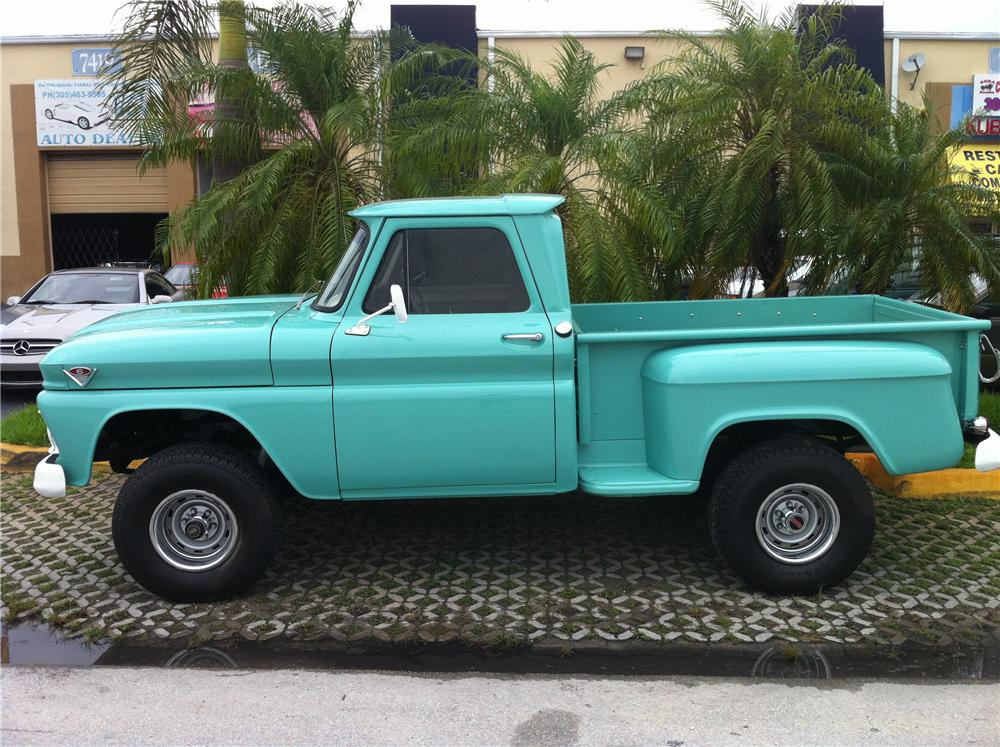 1966 GMC 1/2 TON 4X4 STEPSIDE PICKUP - Side Profile - 130980