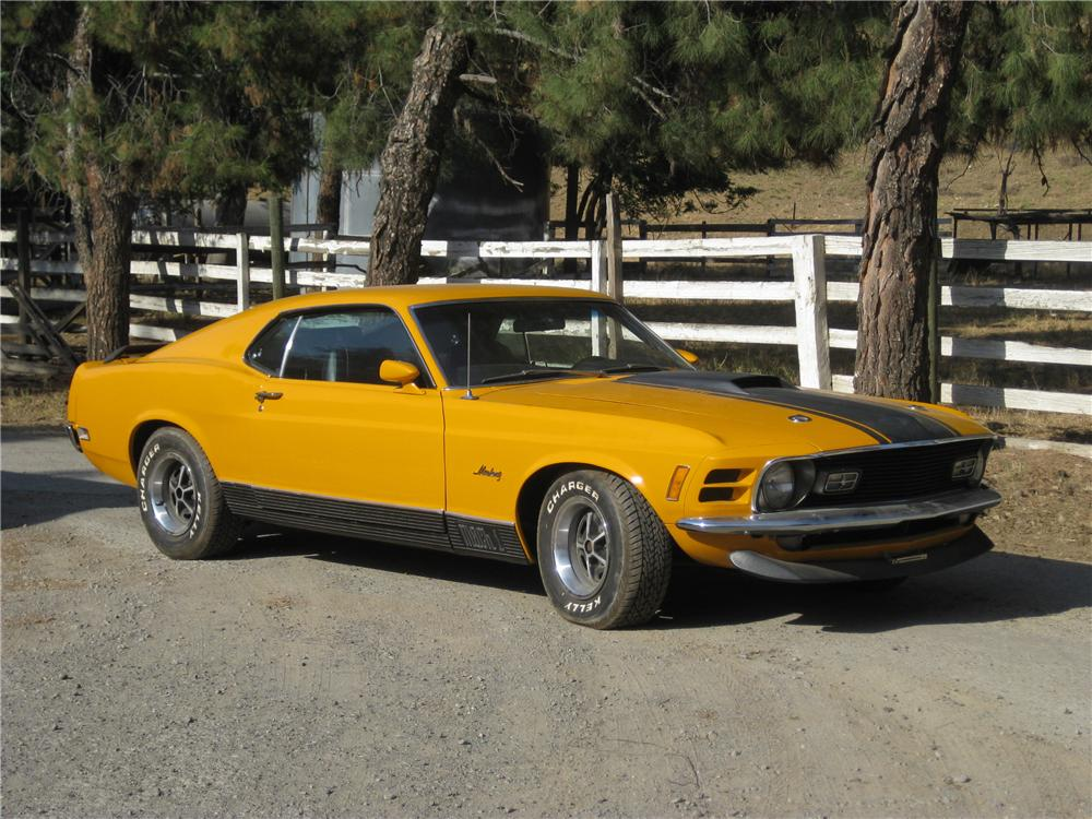 1970 FORD MUSTANG MACH 1 FASTBACK - Front 3/4 - 130981