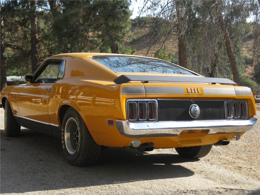1970 FORD MUSTANG MACH 1 FASTBACK - Rear 3/4 - 130981