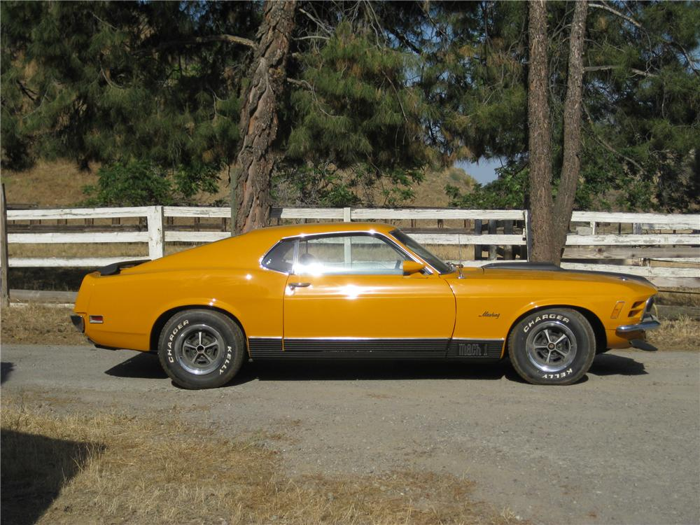 1970 FORD MUSTANG MACH 1 FASTBACK - Side Profile - 130981