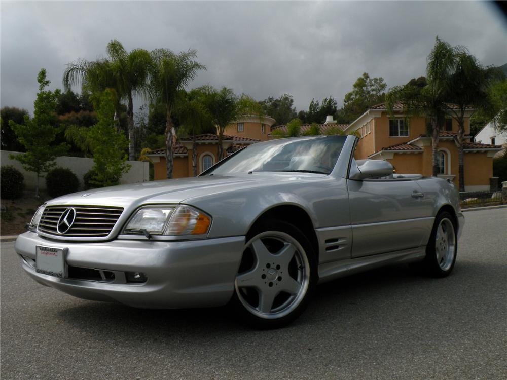 2001 MERCEDES-BENZ SL500 CONVERTIBLE