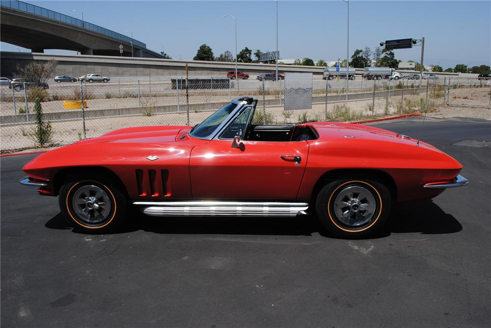 1965 CHEVROLET CORVETTE CONVERTIBLE - Side Profile - 130986