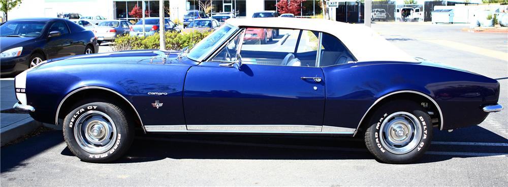 1967 CHEVROLET CAMARO RS/SS CONVERTIBLE - Side Profile - 130987