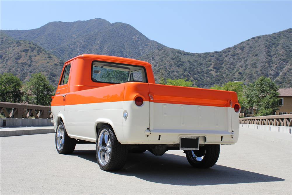 1962 FORD ECONOLINE CUSTOM PICKUP - Rear 3/4 - 130989