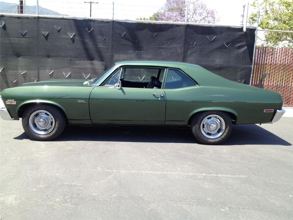 1970 CHEVROLET NOVA 2 DOOR HARDTOP - Side Profile - 130991