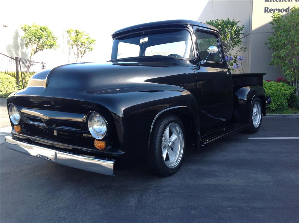 1956 FORD F-100 CUSTOM PICKUP - Front 3/4 - 130999