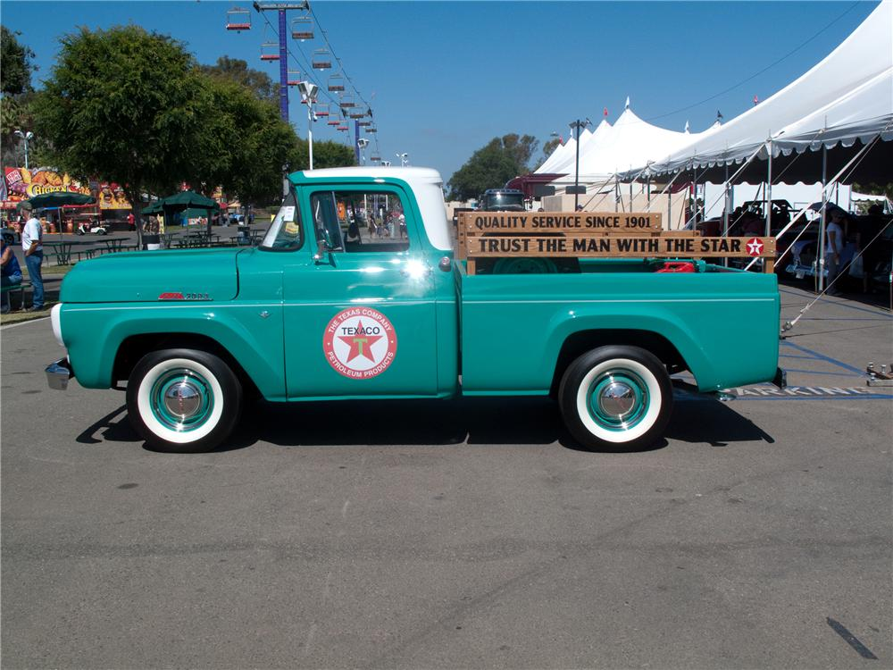 1960 FORD F-100 CUSTOM PICKUP - Side Profile - 131000