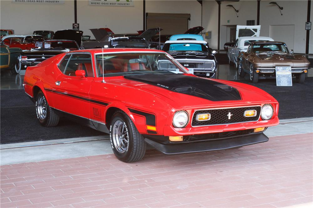 1971 ford mustang mach 1 fastback front 3 4 131016. Cars Review. Best American Auto & Cars Review
