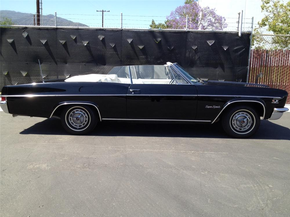 1966 CHEVROLET IMPALA SS CONVERTIBLE - Side Profile - 131017