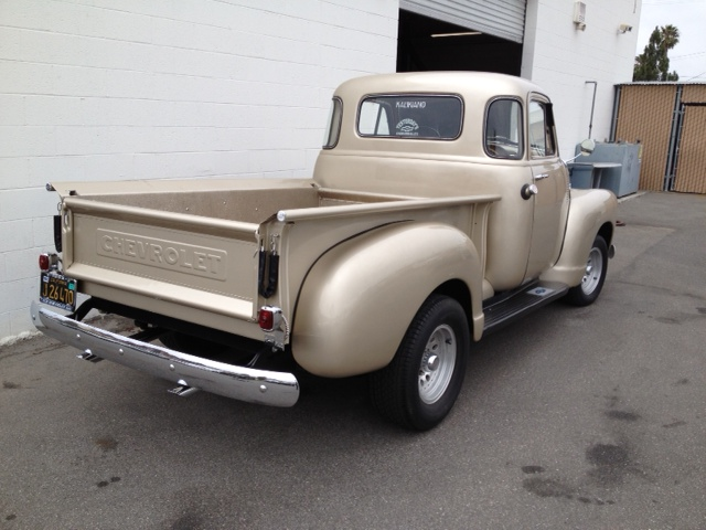 1953 CHEVROLET 3100 5 WINDOW CUSTOM PICKUP - Rear 3/4 - 131023