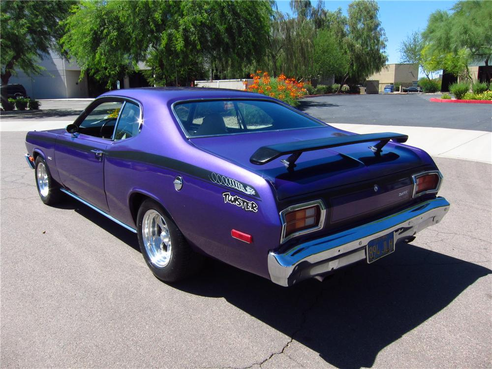 1974 PLYMOUTH DUSTER 2 DOOR HARDTOP - Rear 3/4 - 131051
