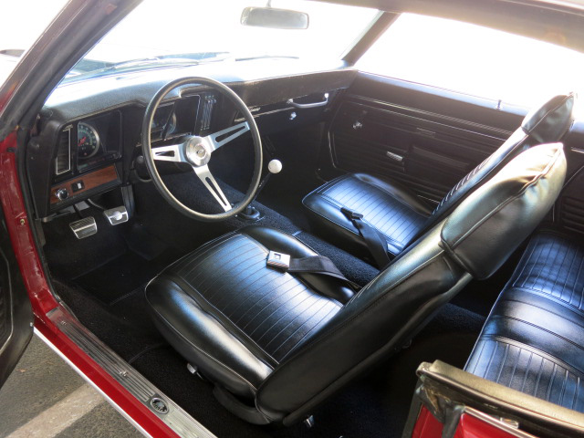 1969 CHEVROLET CAMARO CUSTOM 2 DOOR COUPE - Interior - 131213