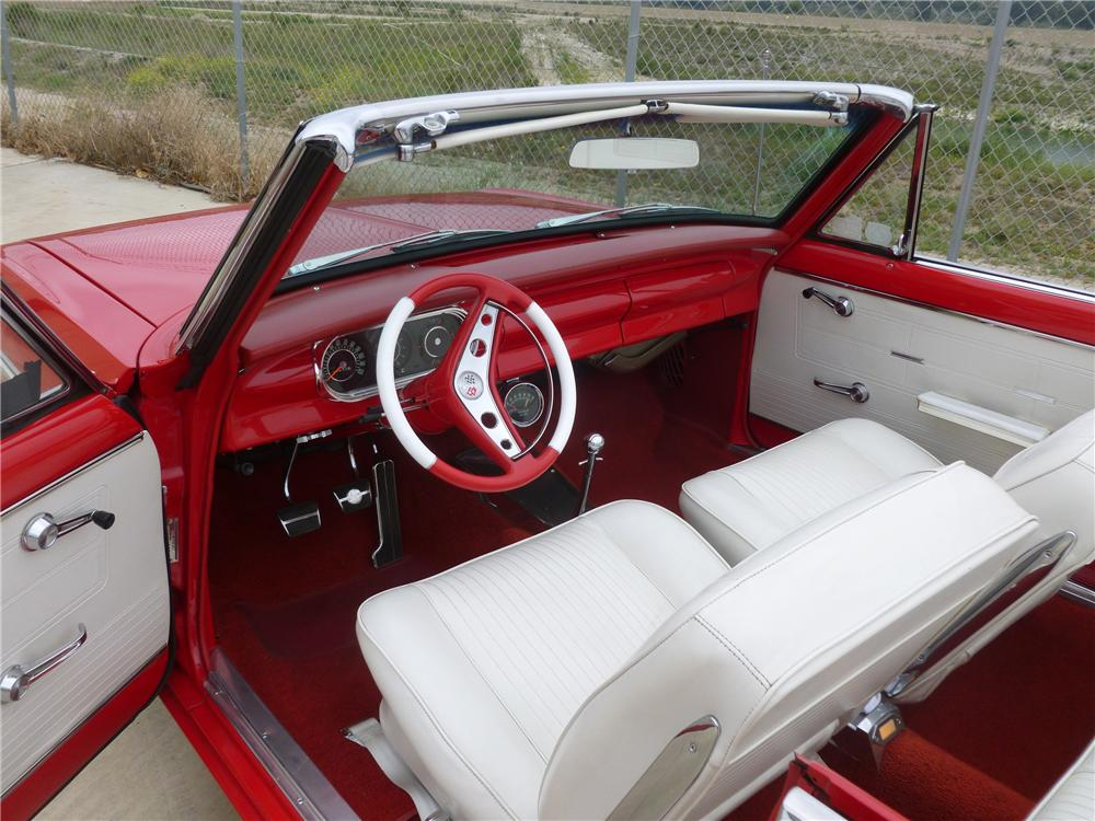 1963 CHEVROLET NOVA CUSTOM CONVERTIBLE - Interior - 132686