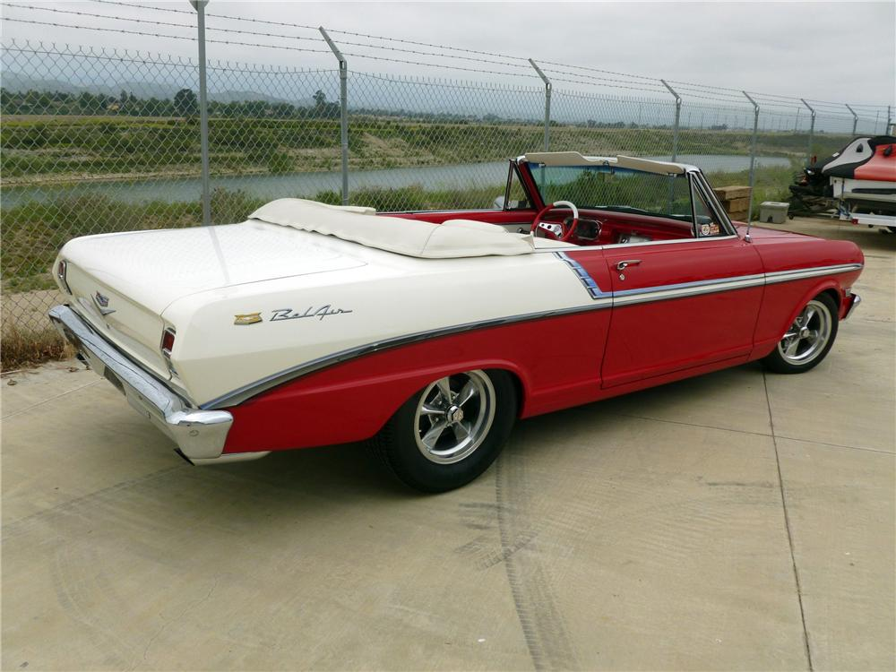 1963 CHEVROLET NOVA CUSTOM CONVERTIBLE - Rear 3/4 - 132686