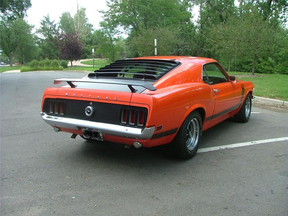 1970 FORD MUSTANG BOSS 302 FASTBACK - Rear 3/4 - 132700