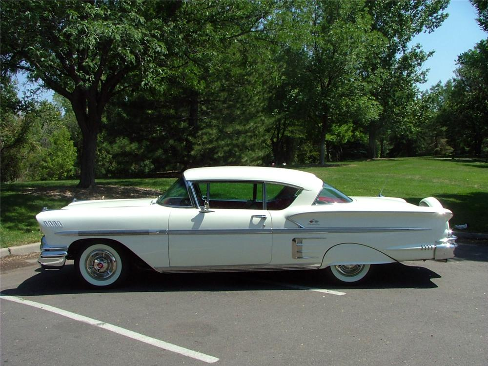 1958 CHEVROLET IMPALA 2 DOOR COUPE - Side Profile - 132701