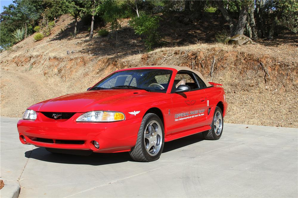1994 FORD MUSTANG COBRA PACE CAR CONVERTIBLE - Front 3/4 - 132703