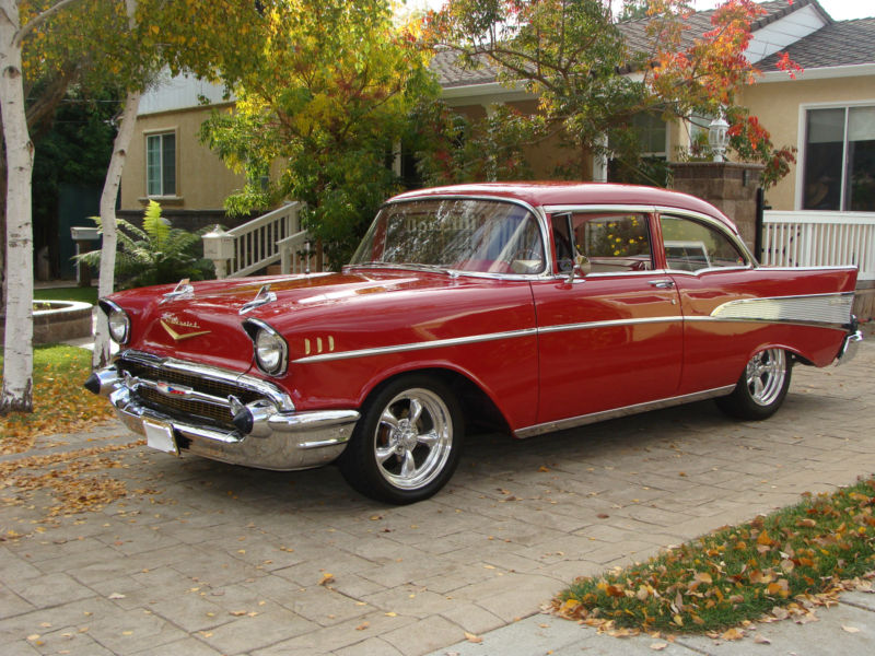 1957 chevrolet bel air custom 2 door sedan 132752 for 1957 chevy 4 door sedan
