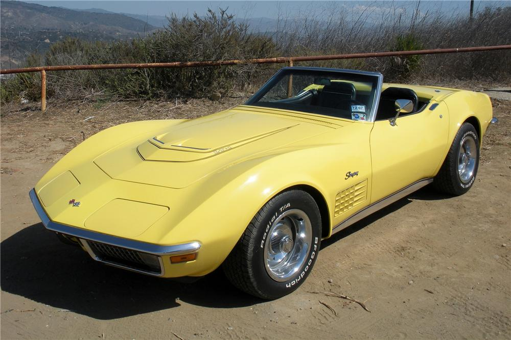 1970 CHEVROLET CORVETTE CONVERTIBLE - Front 3/4 - 132757