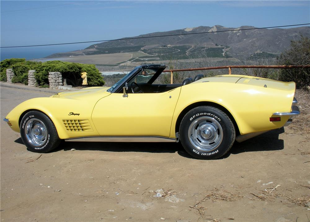 1970 CHEVROLET CORVETTE CONVERTIBLE - Side Profile - 132757