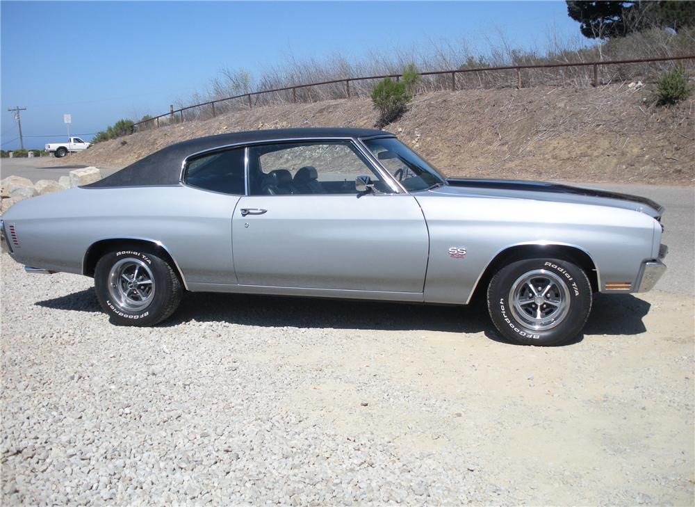 1970 CHEVROLET CHEVELLE SS LS6 2 DOOR HARDTOP - Side Profile - 132770