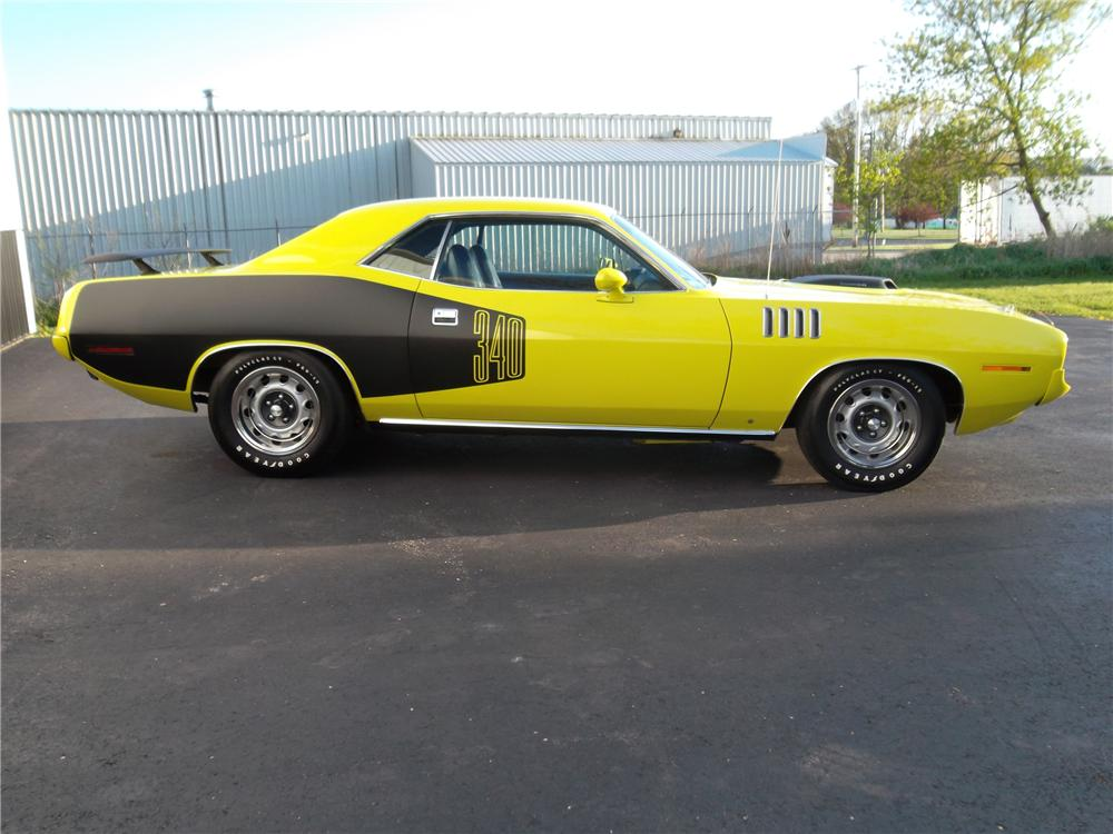 1971 PLYMOUTH CUDA 2 DOOR COUPE - Side Profile - 132793