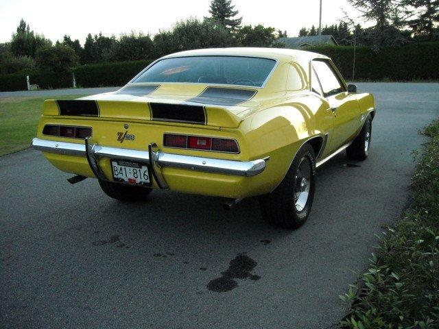 1969 CHEVROLET CAMARO Z/28 2 DOOR COUPE - Rear 3/4 - 132809
