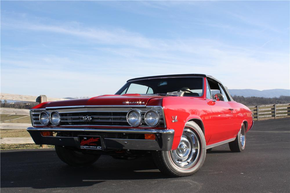 1967 CHEVROLET CHEVELLE SS CONVERTIBLE - Front 3/4 - 132811