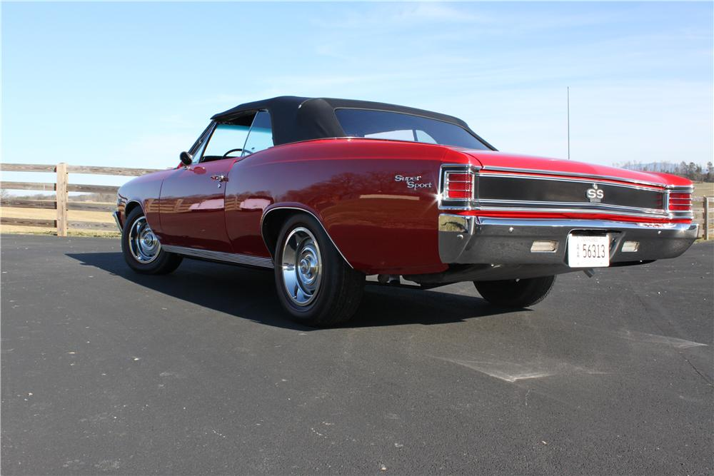 1967 CHEVROLET CHEVELLE SS CONVERTIBLE - Rear 3/4 - 132811