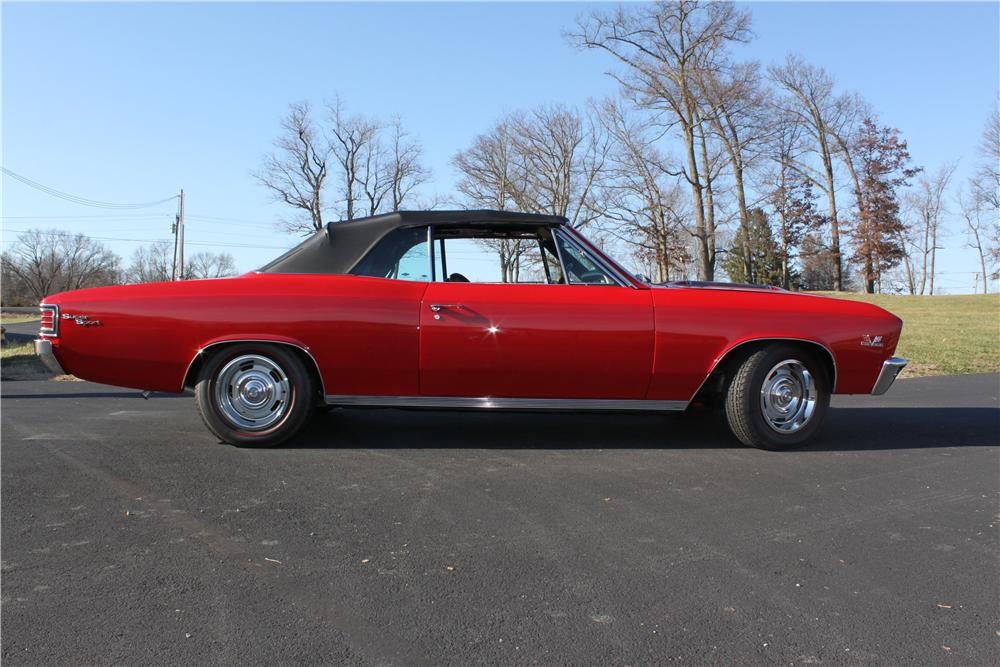 1967 CHEVROLET CHEVELLE SS CONVERTIBLE - Side Profile - 132811