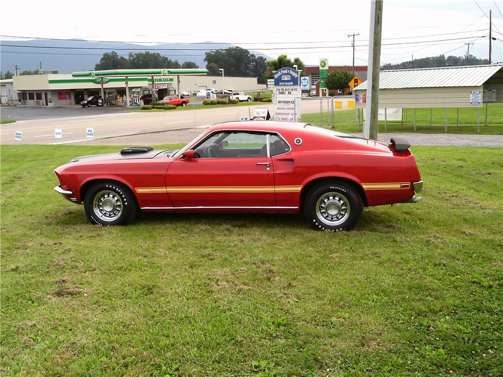 1969 FORD MUSTANG MACH 1 428 CJR FASTBACK - Side Profile - 132816