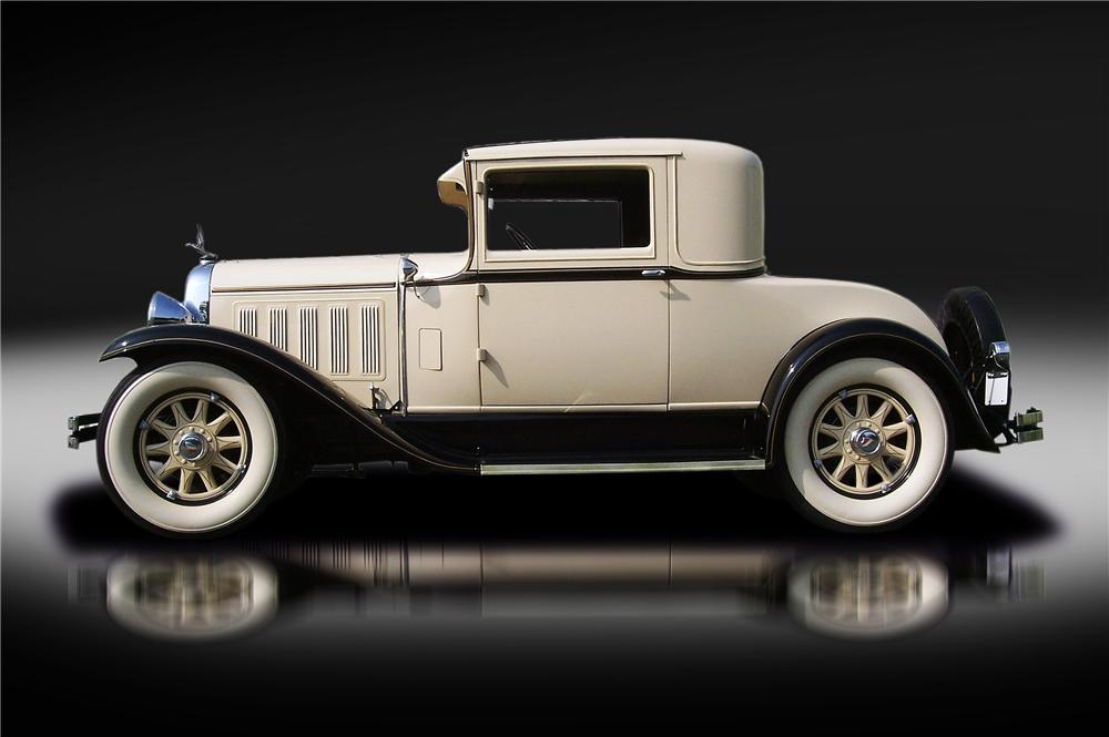 1929 OAKLAND ALL AMERICAN SIX 2 DOOR COUPE - Side Profile - 132824
