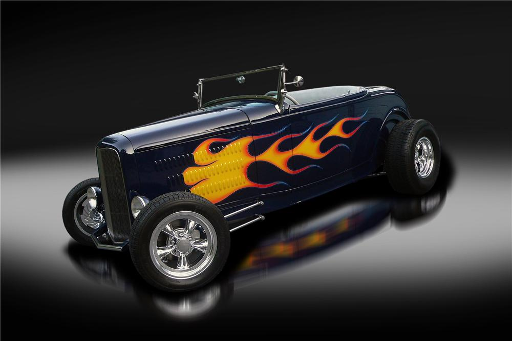 1932 FORD HI-BOY CUSTOM CONVERTIBLE - Side Profile - 132827